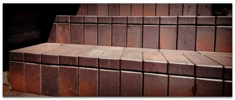Лестница из клинкерного кирпича фото