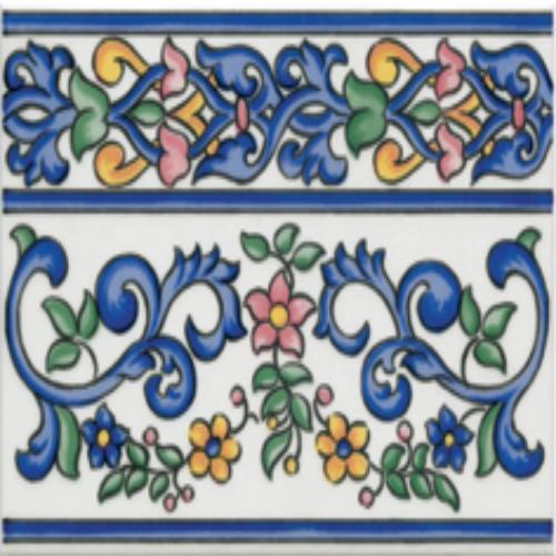 Плитка для ванной настенная коллекция Primavera, Cenefa Iris, 15х20 см., полированная, разноцветный Gayafores (Гаяфорес)