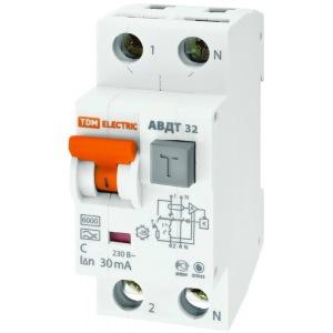 Автоматический выключатель дифференциального тока tdm авдт 32 c25 30ма sq0202-0031