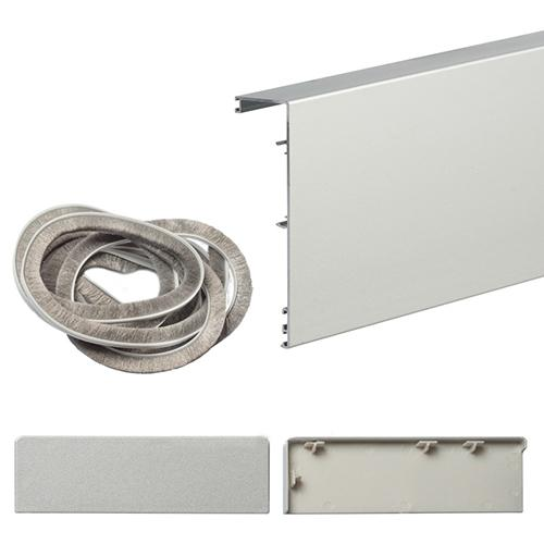 Маскировочная планка для системы Herkules Glass 2100 серебристый