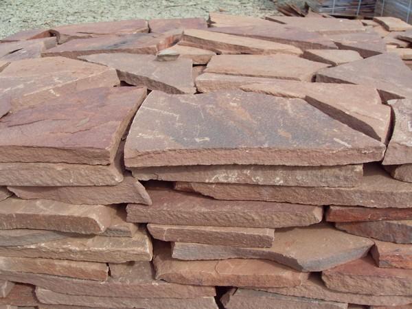 Дикий камень песчаник красный терракот толщ1,5см (1м2) Дикий камень песчаник красный терракот толщ1,5см (1м2)
