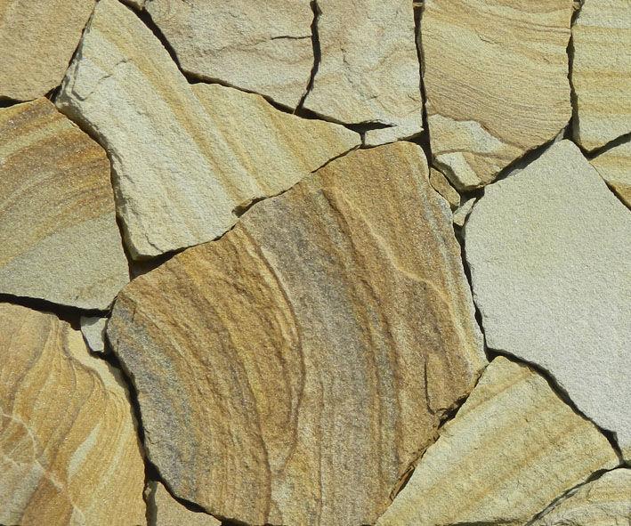 Дикий камень песчаник желто-коричневый с рисунком толщ 5см (1м2) Дикий камень песчаник желто-коричневый с рисунком толщ 5см (1м2)