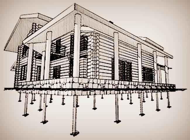 Фундамент на винтовых сваях для строительства частного дома