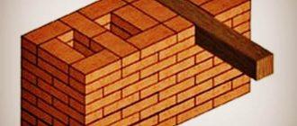 Кладка стен с каналами