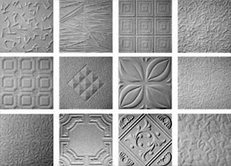 Рисунок плиток клеевого потолка
