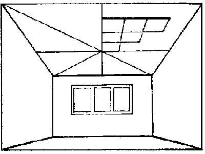 Разметка клеевого потолка