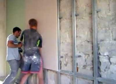 отделка гипсокартоном стен