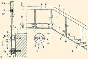 схема сборки стеклянной лестницы
