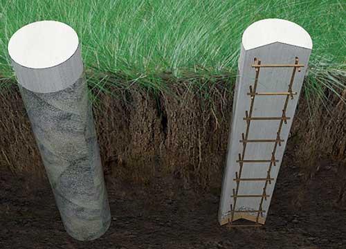 Столбчатый Фундамент из бетона