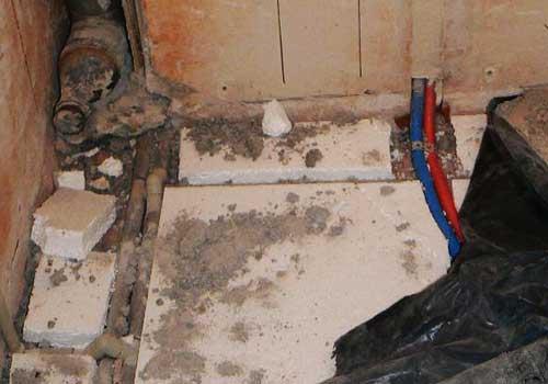 канализация под стяжку