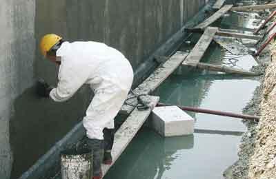 Утепление фундамента бетоном