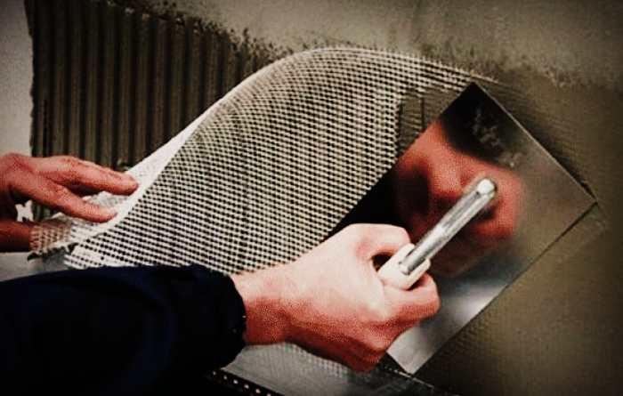 Армирование поверхности стен