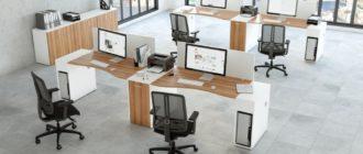 Организация пространства - столы на несколько рабочих мест