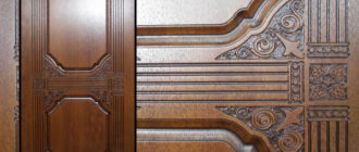 Преимущества панелей МДФ на двери